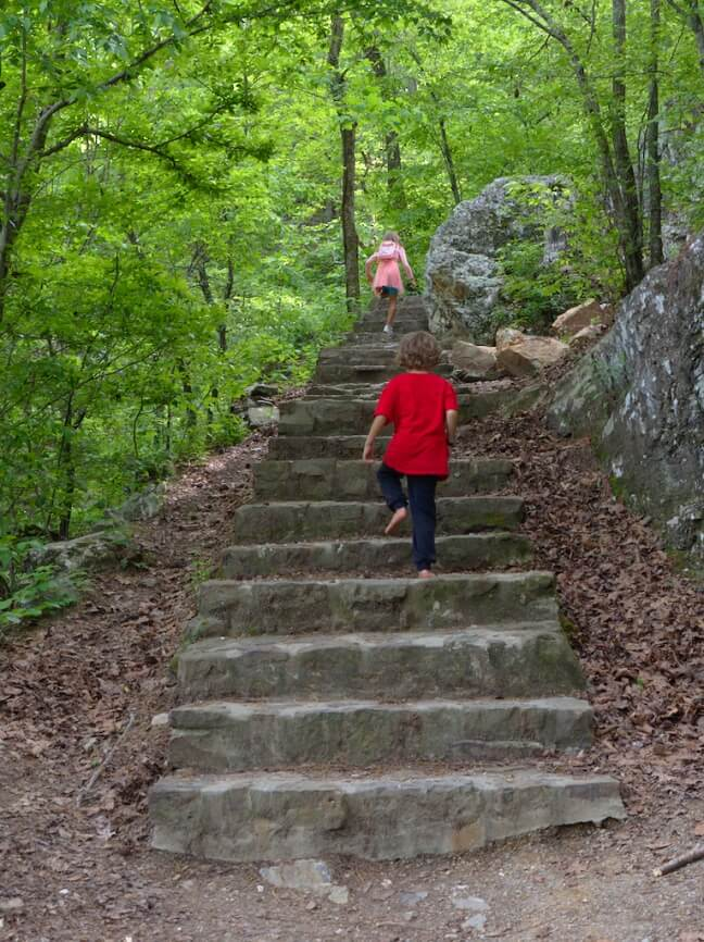 Gulpha Gorge hiking trail